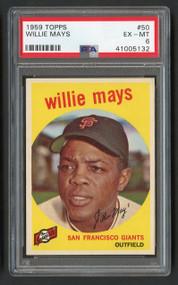 1959 Topps Willie Mays #50 HOF PSA 6 - Centered