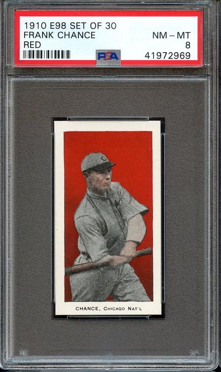 1910 E98 Red Frank Chance HOF PSA 8 - Centered & High-End