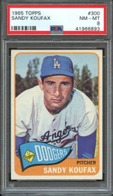 1965 Topps Sandy Koufax #300 HOF PSA 8 - Centered