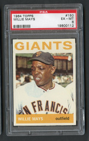 1964 Topps Willie Mays #150 HOF PSA 6 - Centered
