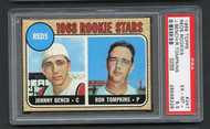 1968 Topps Reds Rookies w/ Johnny Bench RC Rookie #247 HOF PSA 6.5 - Centered & Undergraded