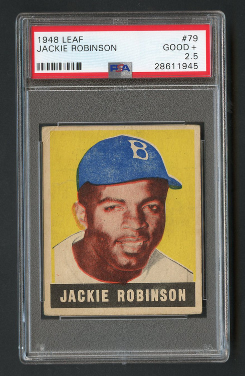 1948 Leaf Jackie Robinson RC Rookie #79 HOF PSA 2.5- Centered