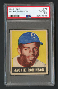 1948 Leaf Jackie Robinson RC Rookie #79 HOF PSA 2.5- Centered