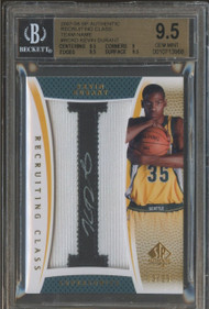 2007 SP Auth. Recruiting Class Kevin Durant RC Rookie Auto Patch-BGS 9.5 Gem Mint
