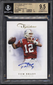 2012 Prime Signatures Gold Tom Brady Auto/20 BGS 9.5 Gem Mint