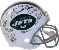 New York Jets Autographed Helmet with 24 sigs including Joe Namath