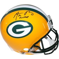 Aaron Rodgers Auto Helmet