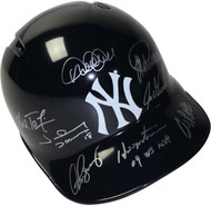 "Signed by 8 Yankees Batting Helmet w/ ""09 WS MVP"" Insc. incl. Jeter & Rodriguez"