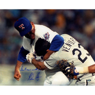 "Nolan Ryan Signed 'Robin Ventura Fight' 16x20 Photo w/ ""Don't Mess With Texas"" Insc (Nolan Ryan Holo)"