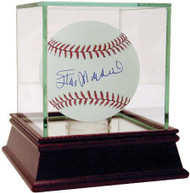 Stan Musial Signed Baseball with COA & Encased