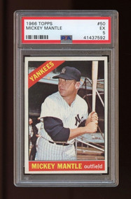 1966 Topps Mickey Mantle #50 HOF PSA 5 - Centered