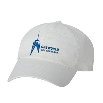 One World Observatory White Slouch Cap
