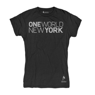 One World Observatory Women's Black Tee