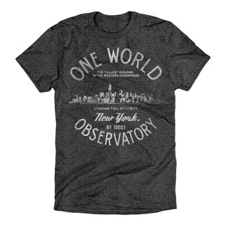 One World Observatory Old World Tee