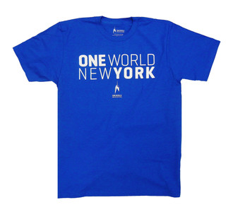 One World Observatory Short Stack Royal Blue Tee
