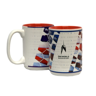 One World Observatory Red mug