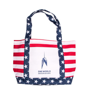 One World Observatory Patriotic Beach Bag