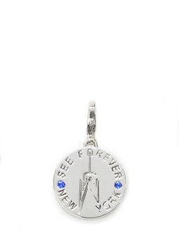 One World Observatory Round Charm with crystals from Swarovski