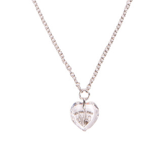 One World Observatory Necklace with Heart Shaped Crystal from Swarovski