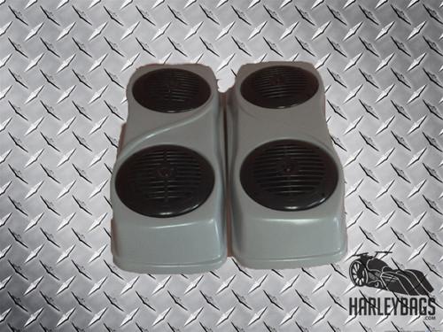 2014 Style Saddlebag Double Speaker Lids for Harley Davidson Touring Motorcycles