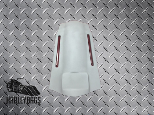 """4"""" Extended Stretched Rear Fender w/ LED Brake Lights Fits Harley Davidson Bikes"""
