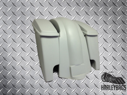 """4"""" Stretched Saddlebags Bags & Fender w/ Dual Exhaust Cut Outs - Softail Deluxe"""