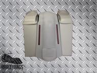 "Harley 6"" Stretched Saddle Bags & LED Fender - No Cut Outs, 6.5"" Speaker Lids"