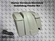 """Harley 6"""" Stretched Saddlebags & Fender - 6.5"""" Speaker Lids - Right Side 2-in-1"""