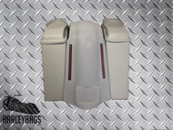 "Harley 6"" Stretched Saddlebags & LED Fender - No Cut Outs, 6""x9"" Speaker Lids"