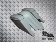 """Harley Custom """"Down-n-Out"""" Stretched Saddlebag and Fender Set - Dual Cut Outs"""