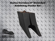 """Harley Custom 8"""" Extended Stretched Saddlebags Bags"""