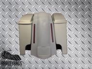 Harley Davidson  Stretched Saddlebags & Fender Kit w/LED Lights -Dual Exhaust