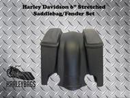 """Harley Davidson 6"""" Stretched Bagger Saddlebags & Fender"""