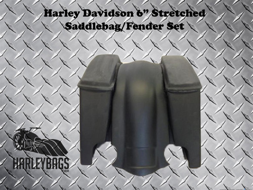 "Harley Davidson 6"" Stretched Bagger Saddlebags & Fender"