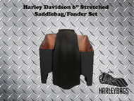 "Harley Davidson 6"" Stretched Saddlebags & Fender Set"