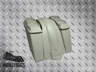 """Harley Davidson 6"""" Stretched Saddlebags, 4 Speaker Lids & Fender"""