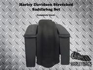 Harley Davidson Bagger Stretched Saddlebags & Rear Fender - No Cut Outs