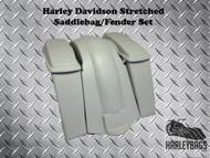 "Harley Davidson FL Softail 6"" Extended Stretched Saddlebags Bags Lids & Fender"