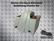 """Harley Davidson Softail 6"""" Stretched Saddlebags and Fender - Heritage Deluxe"""