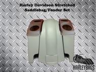 "Harley Davidson Softail 6"" Stretched Saddlebags Dual 6x9 Speaker Lids"