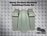 "Harley FL Softail 6"" Stretched Saddlebags Double 6.5"" Speaker Lids & Fender"