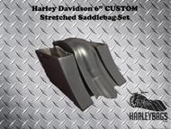Harley Out n Down Stretched Saddlebag and Fender Set