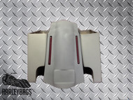 """Harley Touring 6"""" Stretched Hard Saddlebags & Fender - Dual Exhaust Cut Outs"""