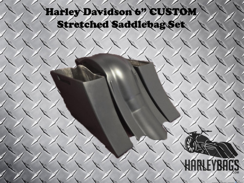 """2014 Harley Stretched Saddlebag and Fender Set """"Down & Out"""" Style"""