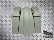"Softail Harley 4"" Stretched Saddlebags with 6x9 Speaker Lids & Fender NO CUTOUTS"