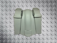 """Harley Davidson Touring  4"""" Stretched Saddle Bags   with  6.5"""" Speaker Lids and Rear Fender"""
