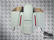 """'14-'15 Touring Harley 4.5"""" Longer Stretched Saddlebag & Fender Set w/LED Lights"""