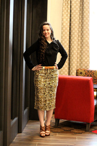 Aleah Premium Denim Skirt - Leopard - IN STOCK