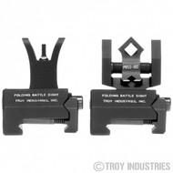 Troy BattleSight Micro M4 Front and DOA Rear Folding Sight Set - FDE