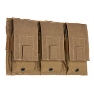 TAC SHIELD Triple Universal Rifle Mag Molle Pouch (Coyote)